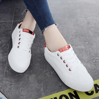 Leather lace canvas shoes BayMini shoes (Bai Hong)