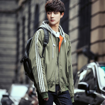 LOOESN men autumn New style jacket (Dark green color)