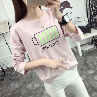 Loose Korean-style New style spring and summer T-shirt (JX3803 pink) (JX3803 pink)