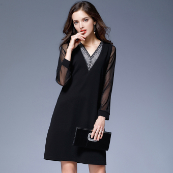 Loose mm2017 large female New style Plus-sized dress