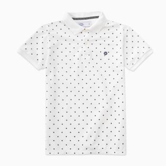 LOYAL Polka Dot Polo Shirt in White