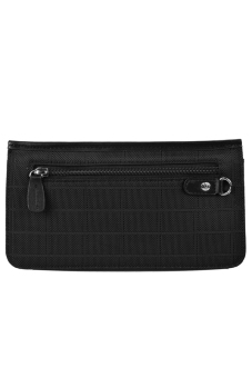 McJIM C-107-3013 Imported Canvas Clutch Bag (Black) - picture 2