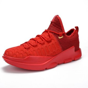 Men's Comfortable and Breathable Shock-absorbing Light Basketball Shoes - intl