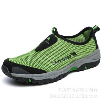Mens Breathable Walk Beach Outdoor Water Driving Shoes Womens SlipOn Water Shoes Lightweight Mesh Quick Drying Aqua Shoes - intl