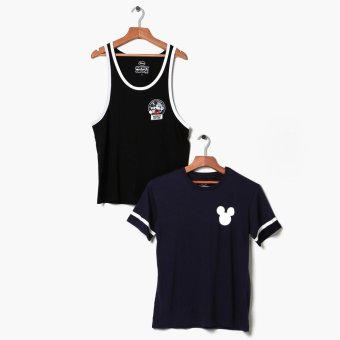Mickey Mouse 2-piece Teens Graphic Tee And Tank Set (XS)
