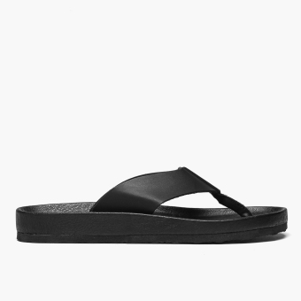 Milanos Mens Arnold Flat Sandals (Black)