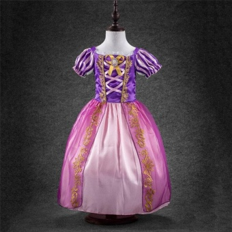 New Baby Girls Cinderella Dresses Children Snow White Princess Dresses Rapunzel Aurora Kids Party Halloween Costume Clothes The Princess Skirt - intl