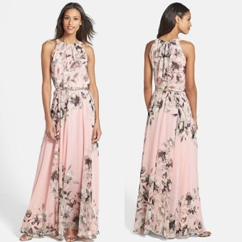 New Boho Womens Summer Chiffon Ladies Party Evening Beach Long Maxi Dress - intl