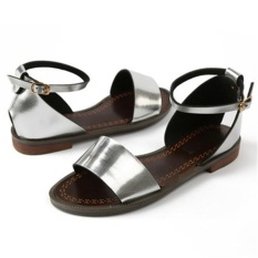PHP 1.919. New Solid Flat Sandals Soft Leather Sandals Women Beach Shoes Summer ...