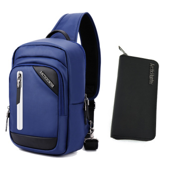 New Style Large Capacity shoulder bag (Sapphire blue color + wallet)