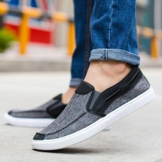PHP 706. Ocean New Men Fashion Slip On Casual Canvas Sneakers Breathe Shoes(Black) - intlPHP706. PHP 739. Fashion Leather Slip On Men Driving Moccasins ...