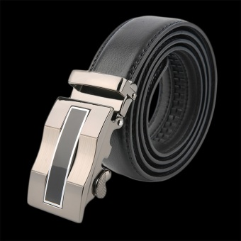 OH Classical Automatic Belt Buckle Genuine Leather Belts Mens Waist Strap