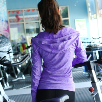 Outdoor I jacket running fitness clothing (Purple)