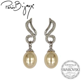 Paris Bijoux E111708A Earrings (Silver/Acrylic Pearl)