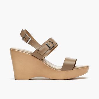 Parisian Ladies Robi Wedge Sandals (Taupe)
