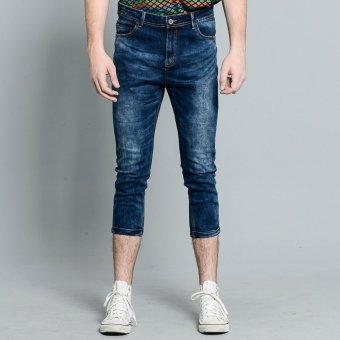 PENSHOPPE Cropped Denim Pants (Blue)