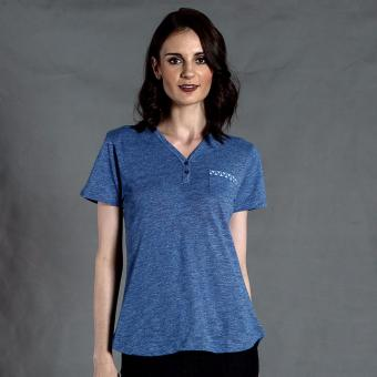 PENSHOPPE Printed Henley Tee with Pocket (Blue)