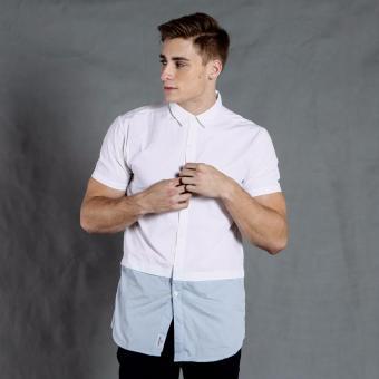 PENSHOPPE Short-sleeved Shirt with back print and extended hem (White)
