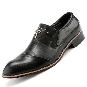 pinsv mens classic formal shoes loafers business shoes