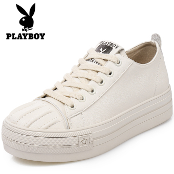 PLAYBOY autumn New style white shoes (Beige)