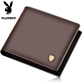 PLAYBOY leather men's youth cross wallet (Brown color cross)