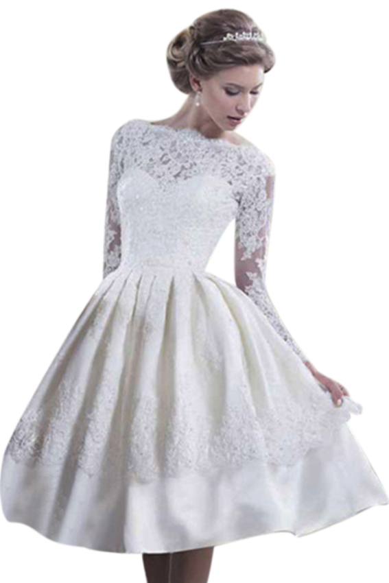Lace and mesh ball gown midi dress white lazada ph for Bubble skirt wedding dress