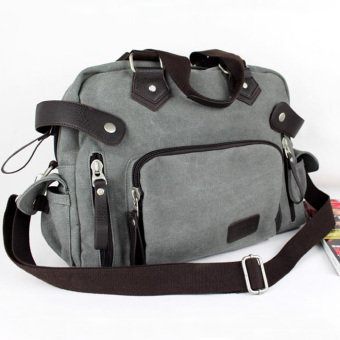 Shishang bag casual bag canvas bag (Smoky Gray)