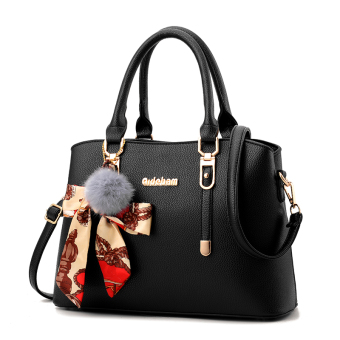 Shishang New style shoulder winter women's bag (Black-to send VT wallet)