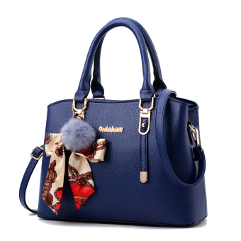 Shishang New style shoulder winter women's bag (Sapphire Blue-to send VT wallet)