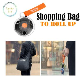 Shopping Bag To Roll Up (black)