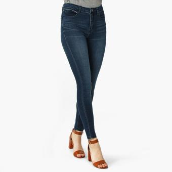 SM Woman Dark Wash Skinny Jeans (Dark Blue)