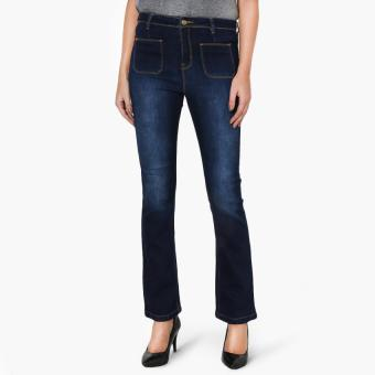 SM Woman Denim Flared Bootcut Jeans (Indigo)