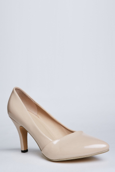 Stitch Classic Pointed Toe Stiletto Heels, Patent finish (Nude)