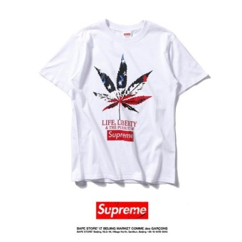 Supreme Fashion BOX casual brand embroidery short sleeved T-shirt - intl
