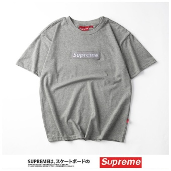 Supreme fashion leisure T-shirt Men's cotton printing short sleevecouple T-shirt - intl