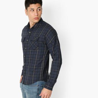 Tank Teens Checkered Casual Shirt (Blue)