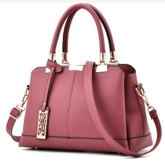 TB Fashion Handbag Shoulder Bag Messenger Large Tote Leather Purse for Women Pink - intl
