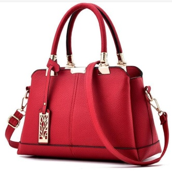 TB Fashion Handbag Shoulder Bag Messenger Large Tote Leather Pursefor Women Red - intl