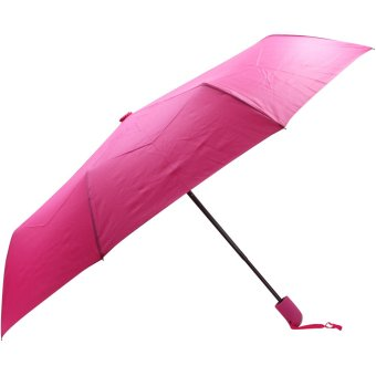 Three Folds Automatic Compact Outdoor Foldable Umbrella Unisex (Pink)