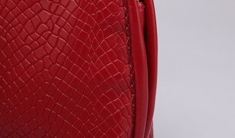 Unique Snake Pattern PU Vintage Cross-body Bags Handbag (Red) - picture 2