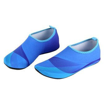 Unisex Lightweight Aqua Beach Shoes Water Sport Shoes (Blue) - intl