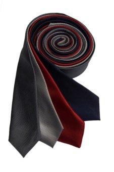 Well Suited Microcheck Slim Necktie Combo C