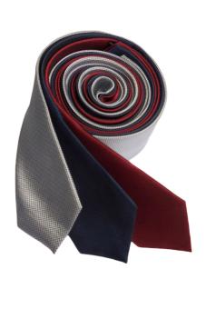 Well Suited Microcheck Slim Necktie Combo2