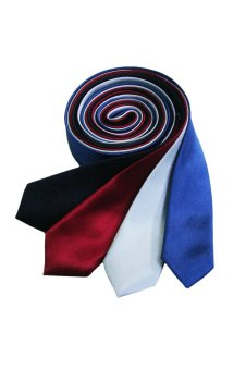 Well Suited Plain Slim Necktie Combo A