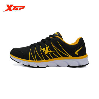 XTEP 2015 Autumn Outdoor Traveling Sneakers Mens Running Shoes Athletic Sports Trainers Shoes (Black/Yellow) - intl