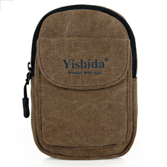 Yishada Casual Men Waist Bag Pocket Canvas Small Bag