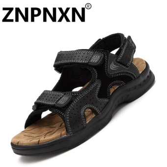 ZNPNXN Leather Men'sFashion Shoes Sandals(Black) - Intl