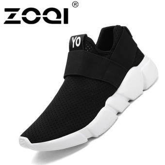 ZOQI Unisex Running Shoes Light Breathable Sneaker Sport Shoes(black) - intl