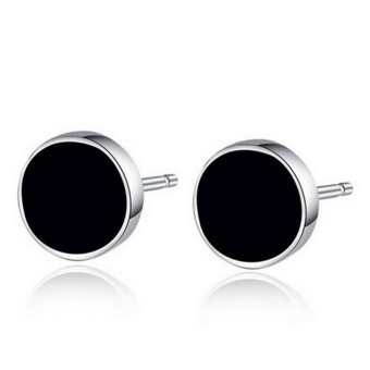 1 Pair Steam Punk Black Earing Stud For Young Men Mini Ear Stud Piercing