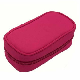 10-Bottle Essential Oil Carrying Case Holds for 5ml 10ml and 15ml Essential Oil Case Storage(Purple,Black,Rose,Blue) - intl